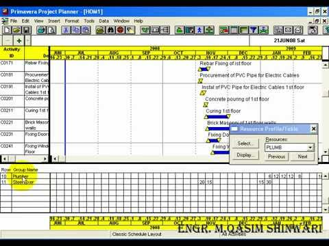 Primavera Project Planner 3 Part 13 Of 13 Youtube