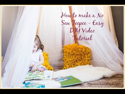 How To Make A Nosew Teepee Easy Diy Video Tutorial