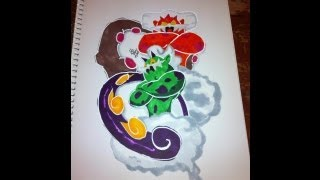 Copic Marker Speed Color Pokémon Landorus and Tornadus with Commentary