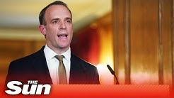 Dominic Raab and government officials give COVID-19 daily briefing