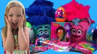 Trolls Easter Baskets 2017  - A FAMILY FUN Gummy Candy Toy Haul