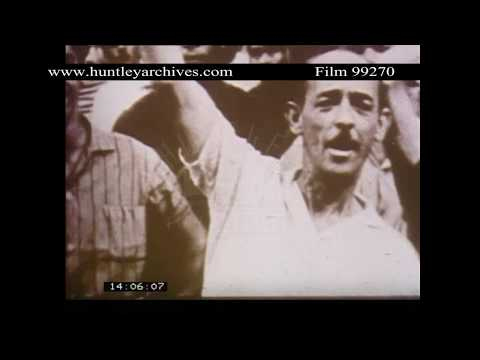 1964 military coup in Brazil.  Archive film 99270