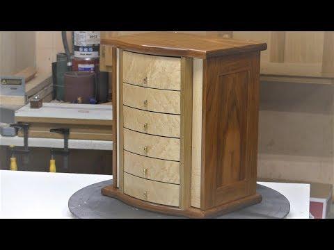Jewelry box with round drawer