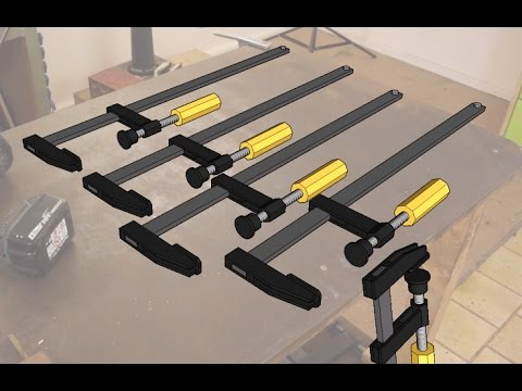 How to Make Long F-Clamps | Homemade Steel Clamps | The new Grinder in Action | Patreon Announcement