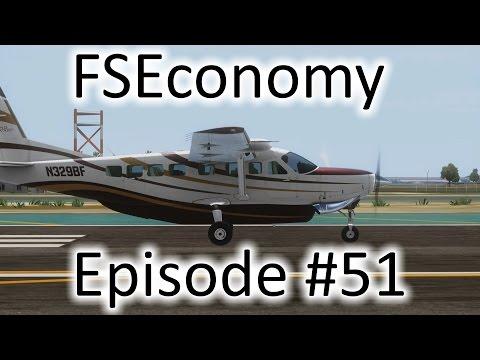 FSX | FSEconomy - Ep. #51 - Back to San Diego | C-208B Grand Caravan