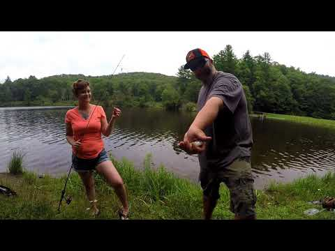 Fishing Trout  Lake In NC Mountains