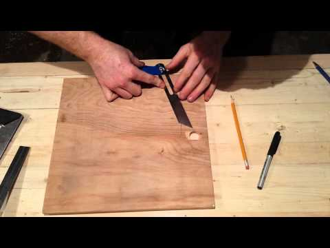 Setting a Bevel Gauge to Ratio Angles