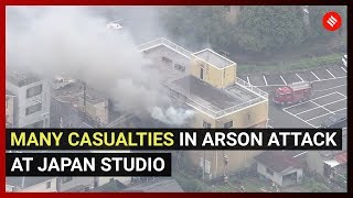 Many casualties in arson attack at Japan studio