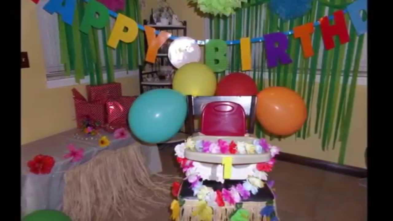 Hawaiian Theme Birthday Party Simple Decorating Idea