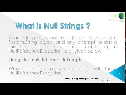 084 - How to C# String Null