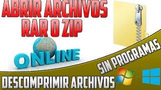 Como Descomprimir Archivos RAR o ZIP sin programas | online