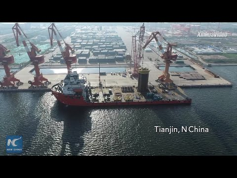 Key components for China's first deepwater self-operated gas field ready for shipment in Tianjin