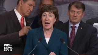WATCH: Bipartisan group oḟ senators discuss potential immigration deal