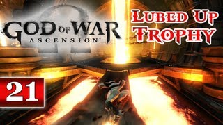 God of War Ascension (PS3) Walkthrough - Part 21: Chapter 24 & 25 | Shoulder of Apollo & Furnace Lubed Up Trophy Guide Let