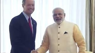 PM Narendra Modi meets Governor of Maryland Martin O