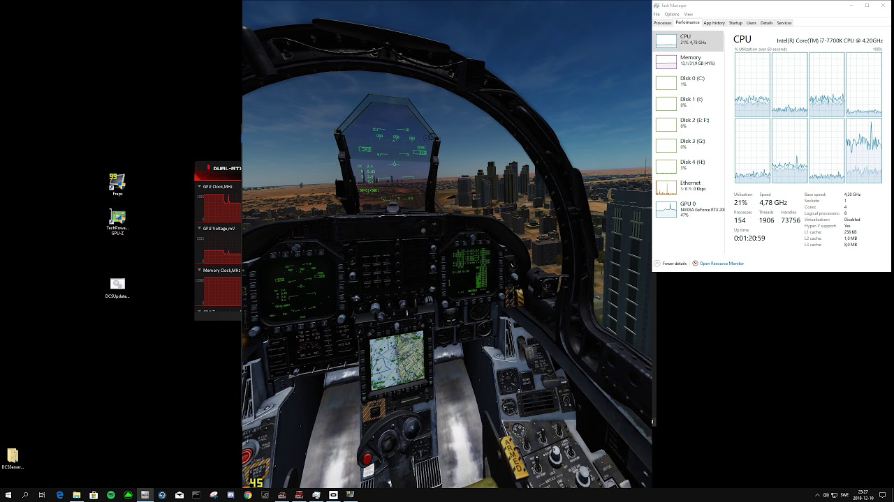 DCS World with RTX 2080 TI VR LOWEST settings