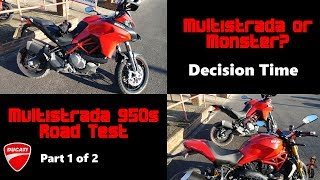 Ducati Multistrada 950s v Monster S