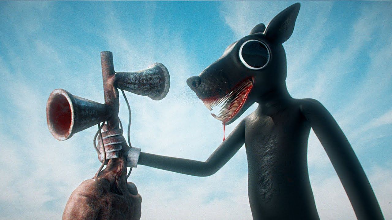 Cartoon Rat vs Siren Head