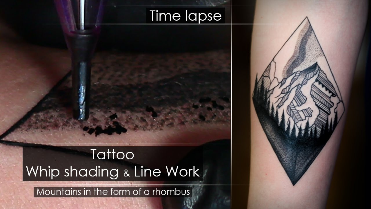 086e7547dfe30 Tattoo techniques - Line work & Whip shading - Close up process [Time  lapse] Full HD - YouTube