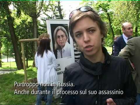Vera Politovskaya al Giardino dei Giusti di Milano, 5 maggio 2009