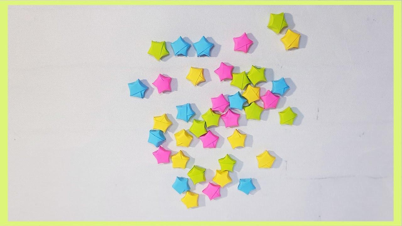 Как Сделать Маленькие Звездочки Из Бумаги  Small Paper -4466