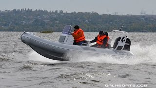 GALA Viking V500 with 100HP on choppy waves at full speed