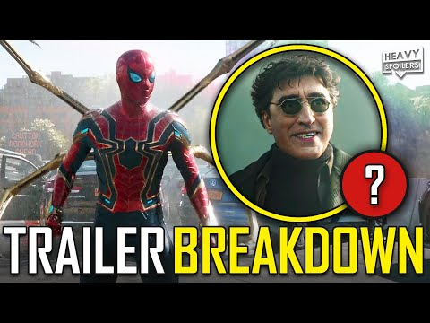 SPIDERMAN No Way Home Official Trailer Breakdown | Easter Eggs Explained & Things You Missed