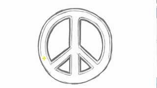 How to Draw PEACE Sign - Cool Things to Draw | MAT