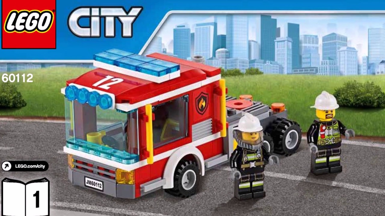 Lego City Fire Engine Set 60112 Instructions Diy Book 1 Youtube
