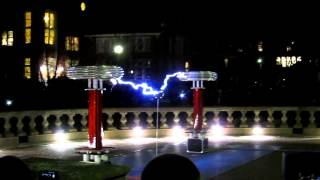 Tesla coil music. Sail by Awolnation