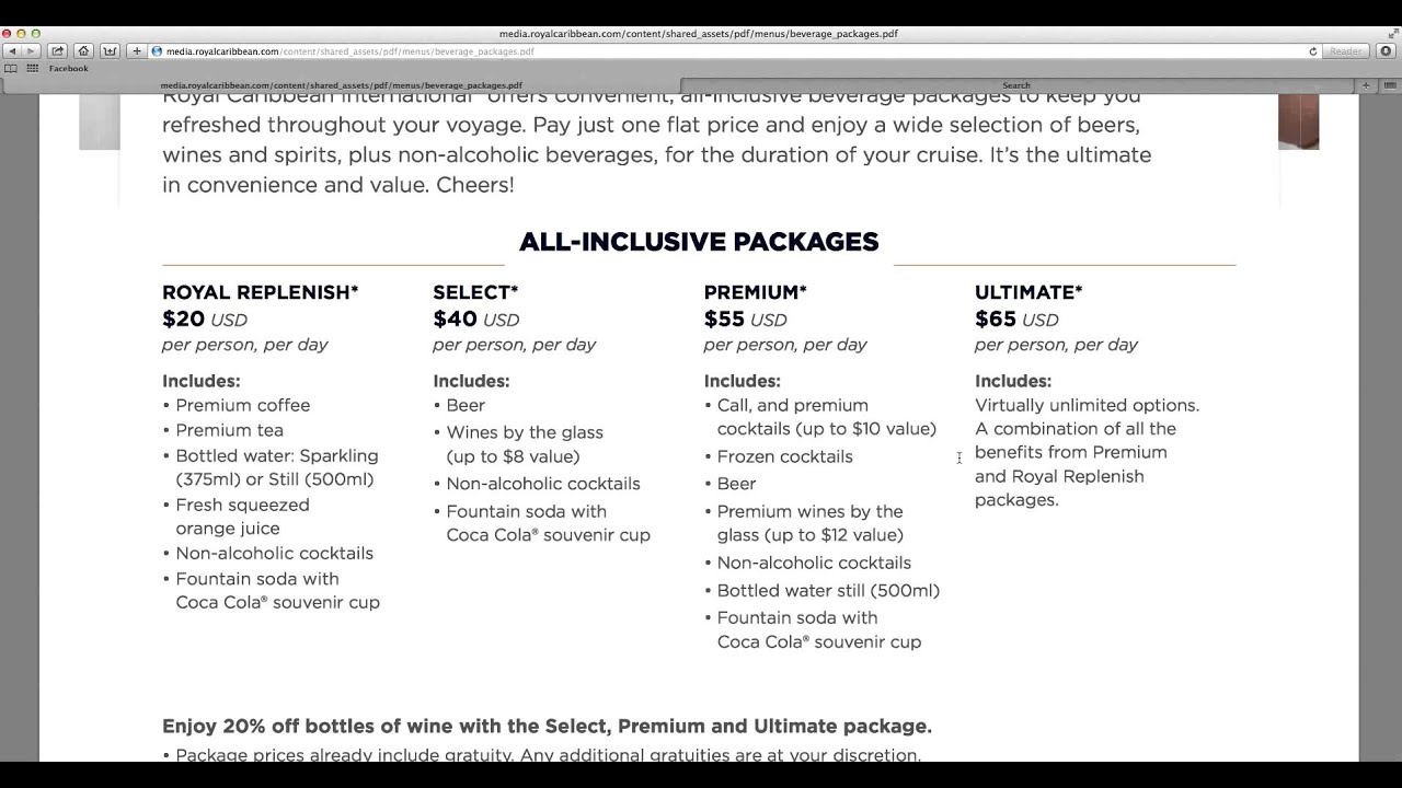Are Drink Packages Worth It Royal Caribbean Carnival Cruise Tip - Allure of the seas drink package