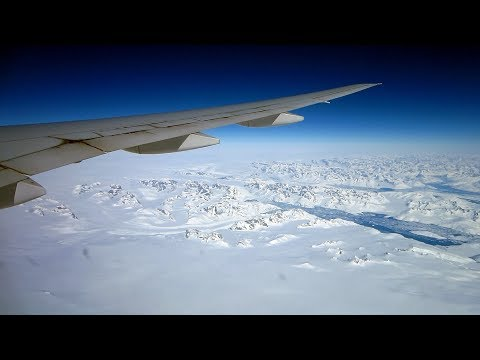 United Boeing 777 | Spectacular flight over Greenland and Northern Canada en route to Houston