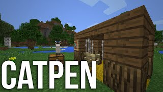 Minecraft:Pocket Edition How to Make a Cat Pen,Cat House