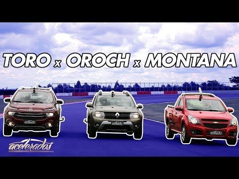 FIAT TORO X RENAULT DUSTER OROCH X GM MONTANA - VOLTA RÁPIDA COM RUBENS BARRICHELLO #64   ACELERADOS