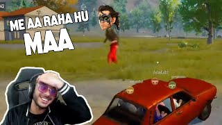 KRISH IN PUBG MOBILE - CARRYMINATI vs HACKER FUNNY MOMENTS