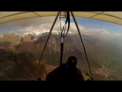 Volo Libero In Deltaplano A San Donato Val Di Comino-Hang Glider (HD Cam SJ3000)