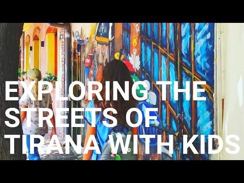 Full-time Traveling Single Mom Explores the Streets Of Tirana, Albania