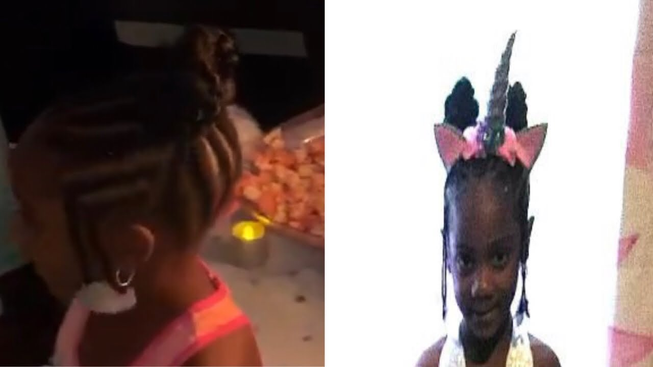Little Black Girl Hairstyles For Kids Natural Braids Youtube