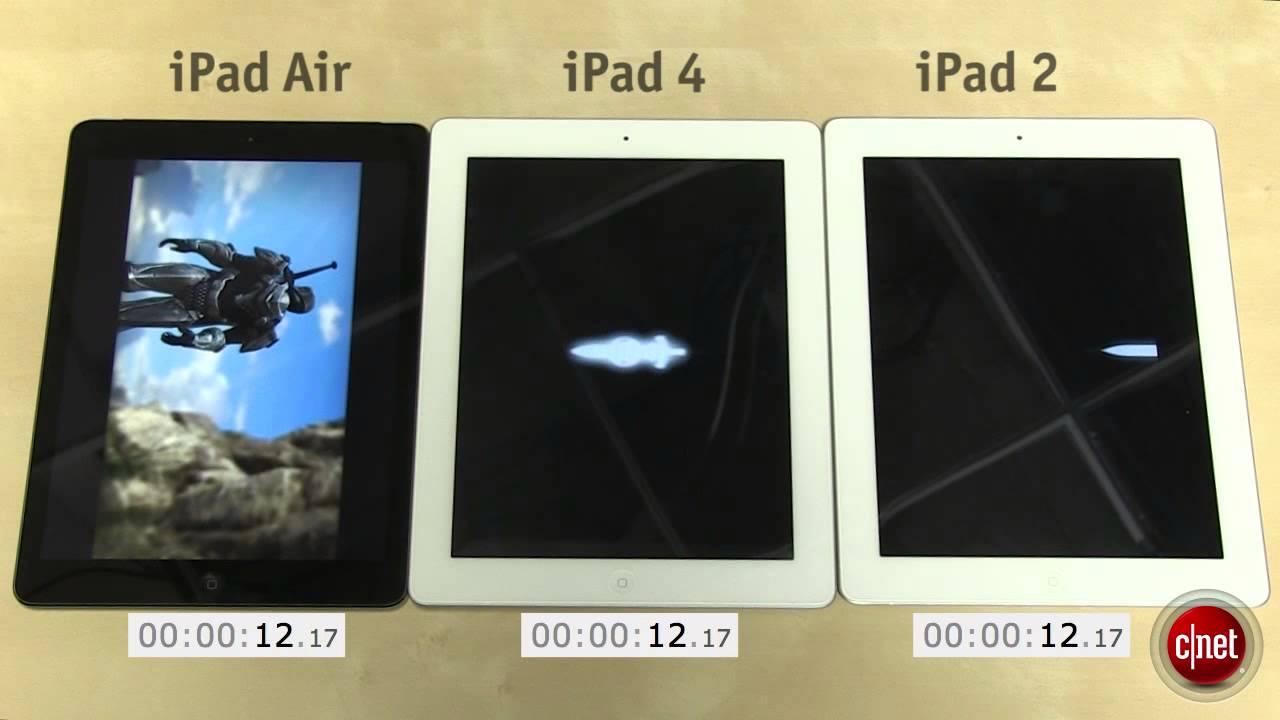 Test iPad Air vs iPad 4 vs iPad 2 - YouTube