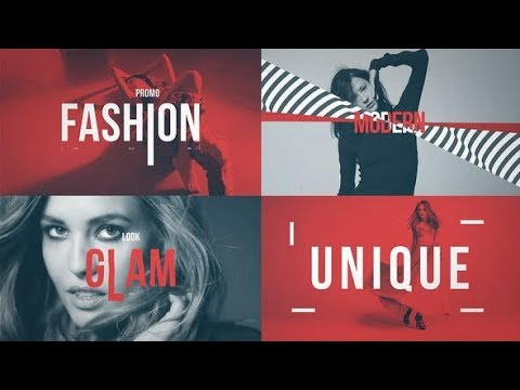 Squeeze Text Fashion Promo - After Effects template - 동영상