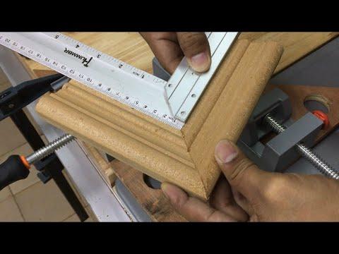 เทคนิคการเข้าเฟรม\u0026เข้ากรอบรูปไม้ให้สนิท