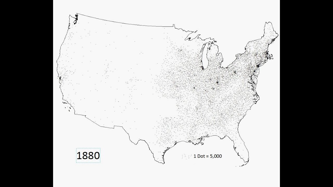 Historical Population Density YouTube - Us population density map 1790