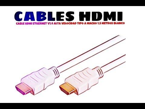 Video de Cable Hdmi Ethernet V1.4 alta velocidad tipo A macho 1.5 M Blanco