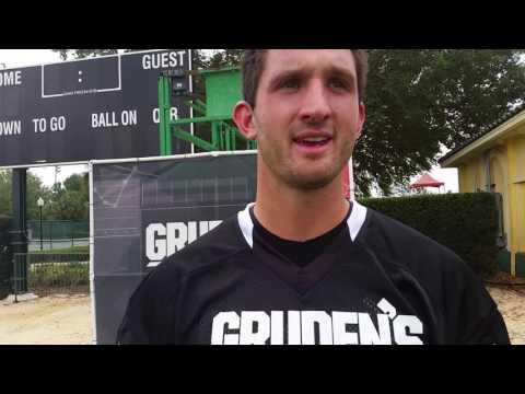 Ex-Pitt QB Nathan Peterman talks about his chalk talk with Jon Gruden.