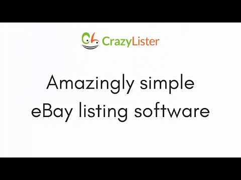 CrazyLister - The Leading All-in-one eBay Listing Software