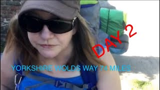 Day 2 Yorkshire Wolds Way 79 miles, long distance walk