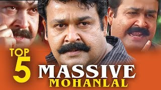 Mohanlal Top 5 Massive scenes | Mohanlal Mass Scenes | Best Of Mohanlal