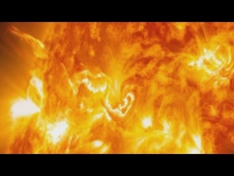 Incredible close-up view of solar flare erupting from Sun