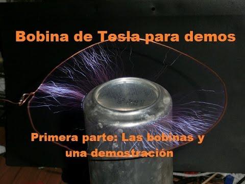 Como hacer una bobina de Tesla casera para demostraciones. Las Bobinas
