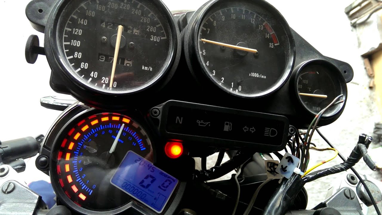 Motorcycle Tach Wiring Diagram : Backlight lcd digital motorcycle speedometer odometer tachometer